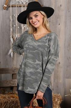 Picture of Camo Long Sleeve Top